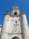 Clock tower, La Rochelle, France. Tower with a clock, La Rochelle : The old part of the city Stock Photos