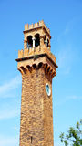 Clock tower landmark Stock Image