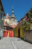 Clock Tower, Landmark of Transylvania, Sighisoara Stock Images