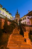 Clock Tower, Landmark of Transylvania, Sighisoara Royalty Free Stock Photo