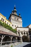 Clock Tower, Landmark of Transylvania, Sighisoara Stock Photo