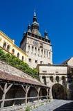 Clock Tower, Landmark of Transylvania, Sighisoara stock photo