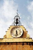 Clock tower, late baroque building Royalty Free Stock Image