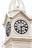 Clock tower of the Lau Pa Sat Market in Singapore Royalty Free Stock Image