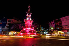 Clock tower light up, Chiang Rai Stock Photography