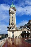 Clock tower of Limoges train station Royalty Free Stock Photo