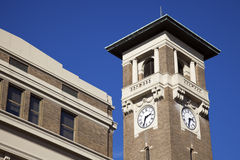 Clock tower in Little Rock. Arkansas. Union Station stock photography