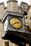 Clock in the Tower of London Stock Image