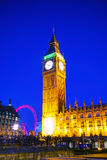 Clock tower in London Stock Image
