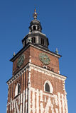 Clock Tower on the main square in Krakow, Poland Stock Photos