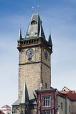Clock tower on the main square in Prague Czech republic Royalty Free Stock Images