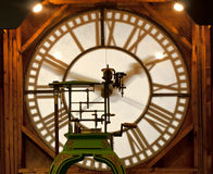 Clock tower mechanism Royalty Free Stock Photography