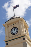 Clock Tower. The clock tower in the middle of Feilding, New Zealand Stock Photos