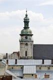 Clock tower of the Monastery of Bernardine Stock Photo