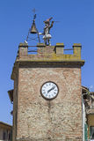 Clock tower in Montepulciano Royalty Free Stock Photography