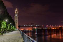 Clock tower of Montreal stock photography
