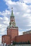 Clock Tower, Moscow Kremlin. Spasskaya Tower of the Moscow Kremlin, Russia Royalty Free Stock Photos