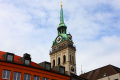 Clock tower in the munich,germany 2011 Stock Image