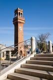 Clock tower, Murano royalty free stock image