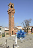Clock tower in Murano island, Venice. Stock Photography