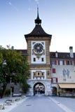 Clock Tower in Murten, Switzerland Royalty Free Stock Image