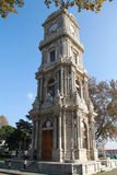 Clock tower near Dolmabahce palace, Istanbul, Turkey Stock Images