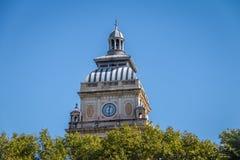 Clock Tower near San Martin Square - Rosario, Santa Fe, Argentina stock photography