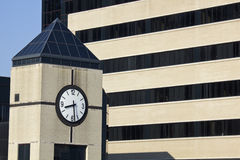 Clock Tower next to the hospital. In Louisville, Kentucky royalty free stock photo