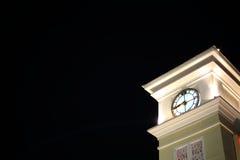 Clock Tower at night Stock Photo