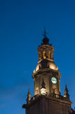 Clock tower in the night Royalty Free Stock Photos