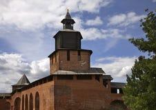 Clock tower in Nizhny Novgorod. Russia Royalty Free Stock Photos