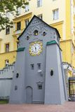 Clock tower clock in Nizhny Novgorod, Russia royalty free stock photos