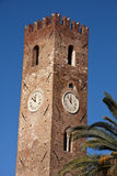 The clock tower of Noli Stock Image
