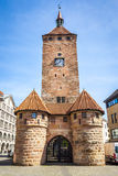 Clock tower Nuremberg Bavaria Germany Royalty Free Stock Photos