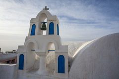 Clock tower in Oia, Santorini (Thera) - The Cyclades in Greece Stock Images