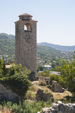 Clock Tower in Old Bar. Old Bar, The Bar, Montenegro Royalty Free Stock Images
