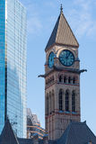 Clock tower of the Old City Hall building-Toronto,Canada Stock Image