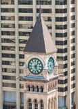 Clock tower in Old City Hall in Toronto Royalty Free Stock Photos