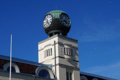 Clock tower. An old clock tower in Jakobstad Finland Stock Images