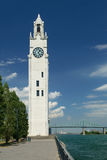 Clock tower, Old Port of Montreal Stock Image