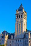 Clock Tower of the Old Post Office Building, Washington DC before sunset. Royalty Free Stock Photography