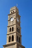 Clock Tower in Acco. This clock tower in the old town of Acco (Acre) in Israel, was built in 1900 by the Ottoman empire Royalty Free Stock Images
