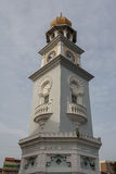 Clock tower in the old town of George Town & x28;Penang& x29; Stock Photo