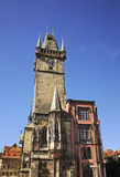 Clock tower of Old Town Hall in Prague. Czech Republic Royalty Free Stock Image