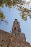 Clock tower in old town Rhodes Royalty Free Stock Image