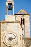 Clock tower in the old town of Split, Croatia royalty free stock photos