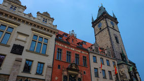 Clock tower at Old Town Square, Prague Stock Photo
