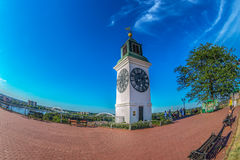 The clock tower, one of Novi Sad`s major landmarks Royalty Free Stock Photos