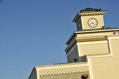 Clock Tower on Pacific Coast 2. Clock Tower in Rockaway Beach, Pacifica, California Coastline Stock Image