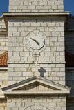 Clock tower in Pakostane Royalty Free Stock Photo